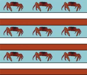 christmas island crab fabric design
