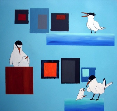Lisa_Landsman_The least tern with the most_mixed media