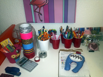 Adelaide's desk
