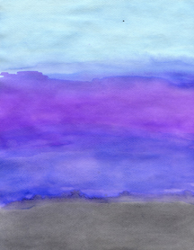 blue, gray and purple watercolor abstract by arty addie