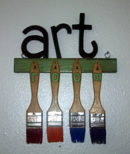 """art room"" sign, a gift from my Mom"