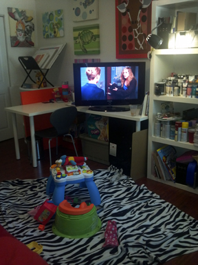 the baby's play area in my studio