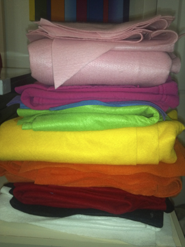colorful stack of felt