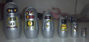 robot nesting dolls