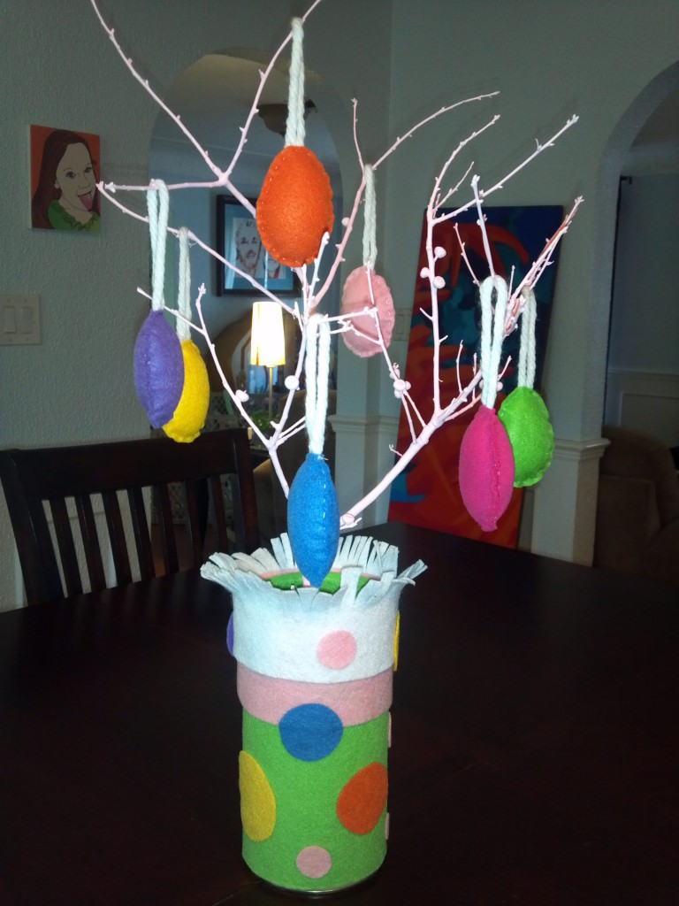 easter pseudo-recycled centerpiece