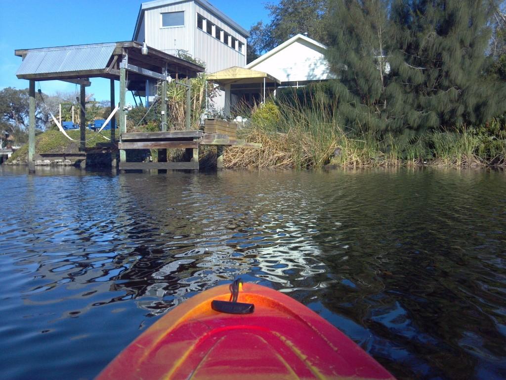 metal stilt house on the hillsborough river