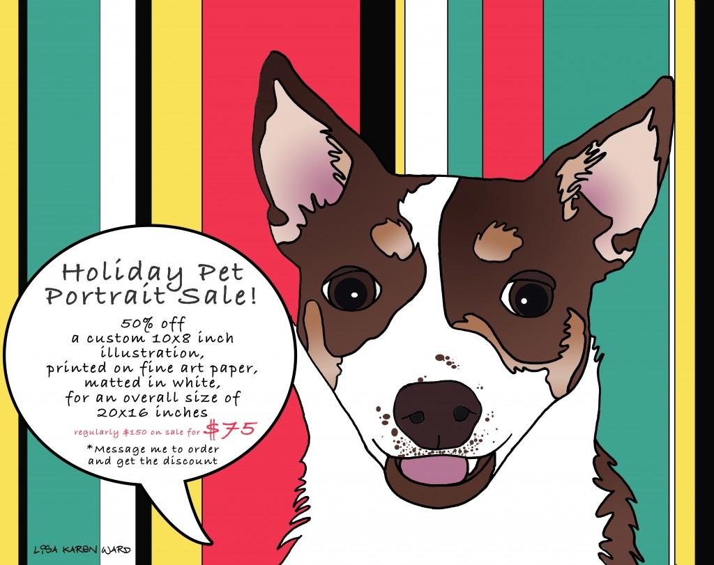 holiday pet portrait sale!