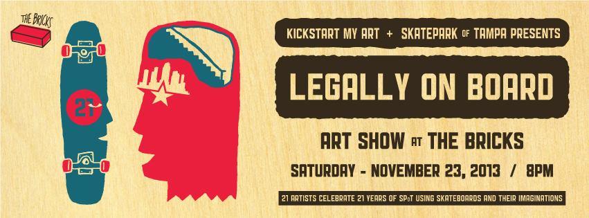 legally on board art show at the bricks of ybor
